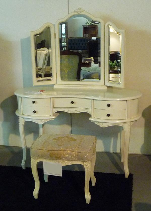 【Fiore】ロココ調白家具 スツール・ホワイト SA-C-1470-W4