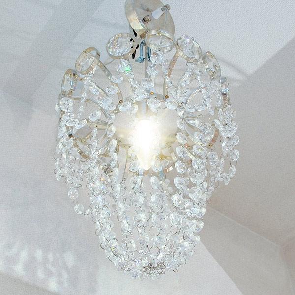 【LA LUCE】チェコクリスタル シャンデリアC・1灯:HL00037/D24