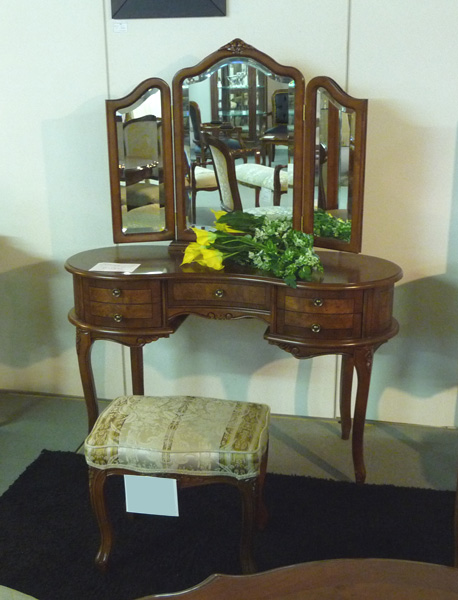 【Fiore】ロココ調家具 スツール・ブラウン SA-C-1470-B4